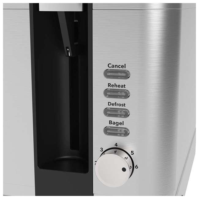 VRM010108N Vremi VRM010108N Retro Stainless Steel Countertop Wide Slot 4 Slice Toaster 2