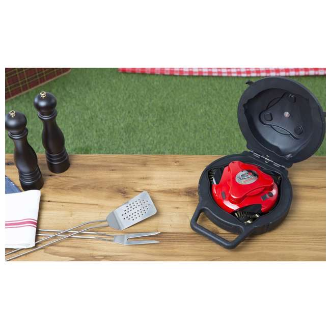 GBU:BUN3:RED Grillbot BUN3:RED Automatic Outdoor Grill Cleaning Robot with Carry Case, Red 4