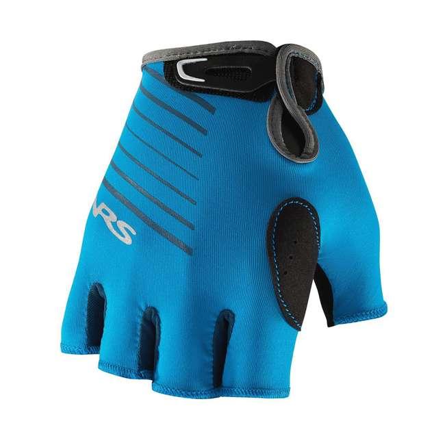 NRS_25005_05_100 NRS Men's Half-Finger Marine Blue Paddling & Rowing Boater's Gloves, XS (2 Pack) 3