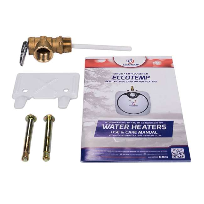 EM-4.0 Eccotemp EM 4 Gallon Under Sink Electric Mini Storage Tank Hot Water Heater 4