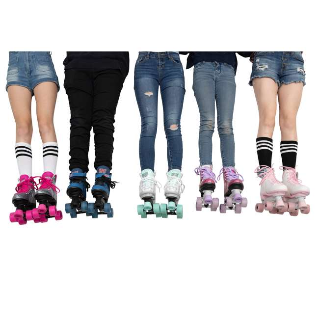 168218 Circle Society Bling Bubble Gum Kids Skates, Sizes 3 to 7 7