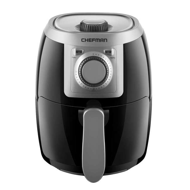 RJ38-2LM Chefman TurboFry 2 Liter Air Fryer with Adjustable Temperature Control, Black