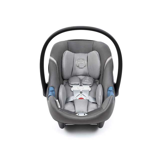 518002089 Cybex Aton M Newborn Infant Baby Car Seat with SafeLock Base, Lavastone Black 1