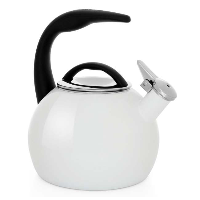 37-ANN-WT Chantal 2-Quart Enamel-On-Steel Anniversary Teakettle, White (2 Pack) 4