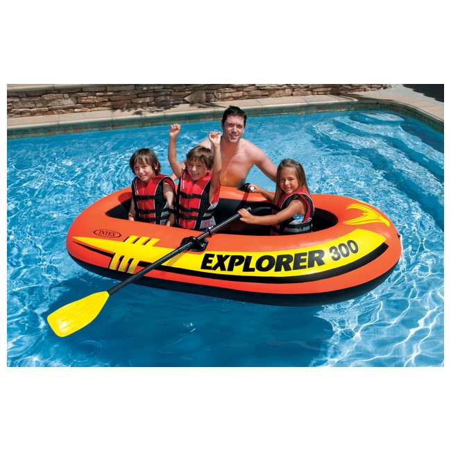 58332EP-U-A Intex Explorer 300 Compact Inflatable Three Person Raft Boat 58332EP (Open Box)