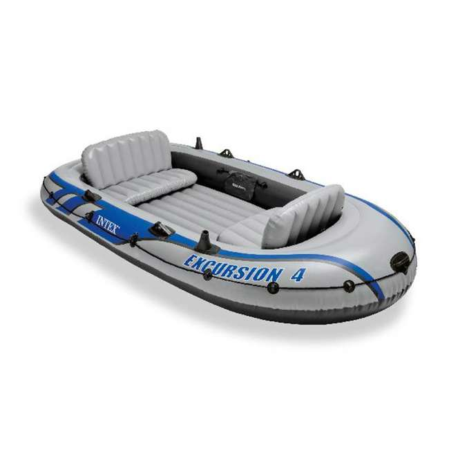 68324EP Intex Excursion 4 Inflatable Raft/Fishing Boat Set With 2 Oars(Open Box)(2 Pack)