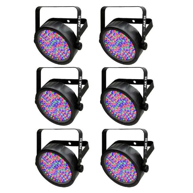 6 x SLIM-PAR56 Chauvet DJ 56 LED DMX Slim Par Flat Can RGB Wash Light Effect Fixture (6 Pack)