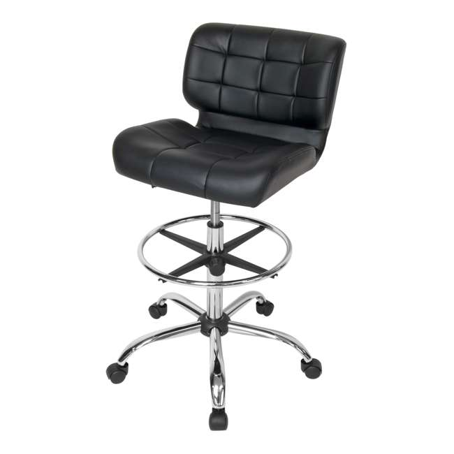 STDN-10659-U-A Studio Designs Crest Low-Back Height Adjustable Drafting Chair, Black (Open Box)