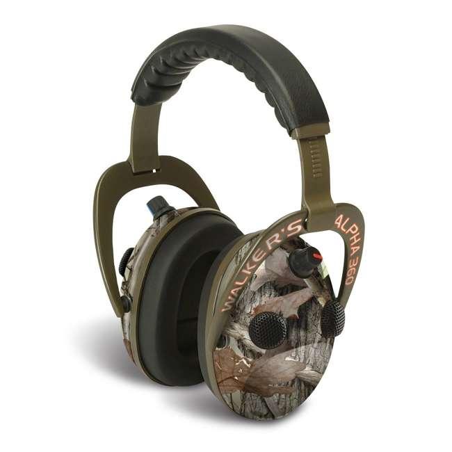 GWP-AM360NXT Walker's Alpha Muffs 360 Hearing Enhancement Earmuffs, Camo
