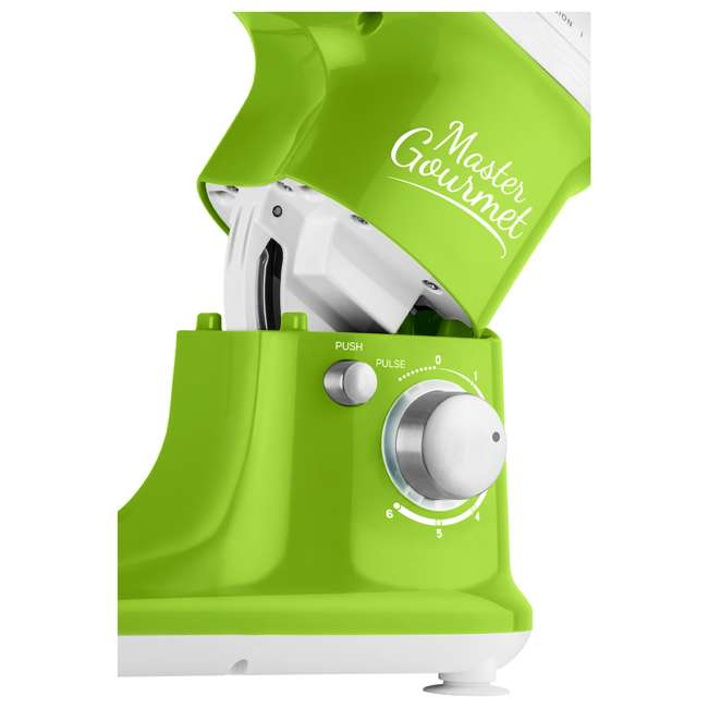 STM3621GR-NAA1 Sencor STM 3620WH 4.2 Quart 6 Speed Food Mixer with Stainless Steel Bowl, Green 6