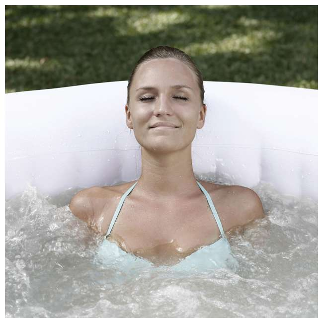 15442-BW + 58416-BW Coleman 4 Person Portable Inflatable Hot Tub (2 Pack) & Plastic Drinks Holder 7