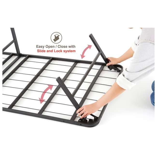 VMI-TIB2-112 intelliBASE Bi-Fold Metal Bed Frame, Twin (2 Pack) 3