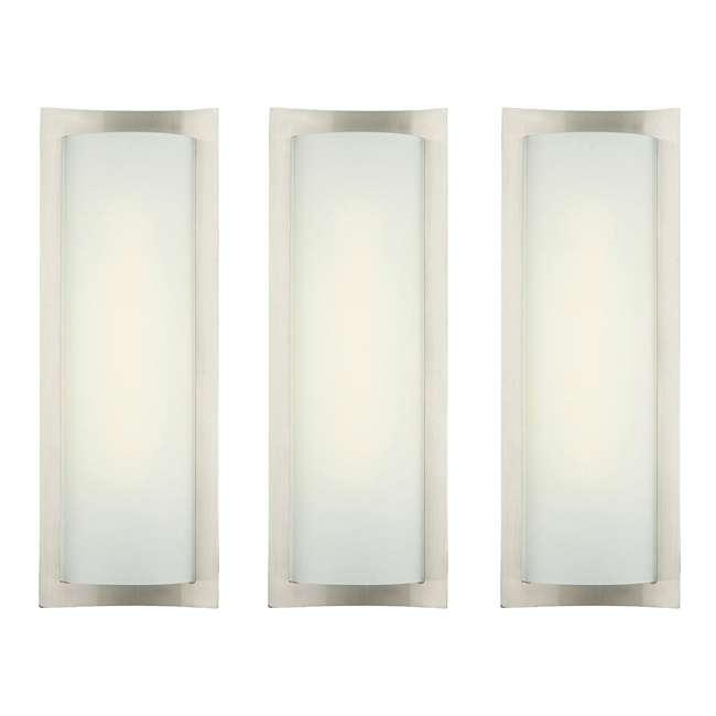 3 x PLC-F559536U Philips Forecast Bow Wrap Bathroom Wall Light, Satin Nickel (3 Pack)