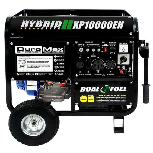XP10000EH + XPLGC DuroMax 10000 Watt Hybrid Portable Generator & Generator Cover, Black 5