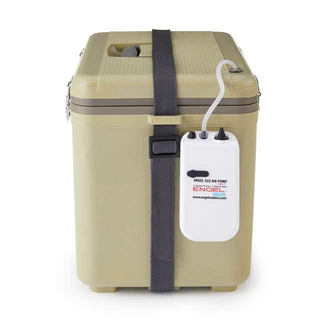 ENGLBC19-N-TAN Engel 19-Quart Hard-Sided Live Bait Fishing Dry Box Cooler, Tan 2