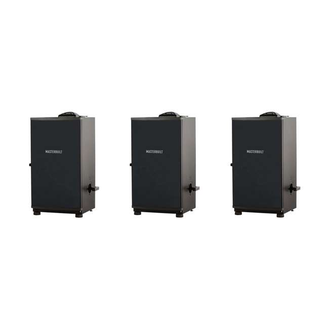 """3 x MB20071117 Masterbuilt Outdoor Barbecue 30"""" Electric BBQ Meat Smoker Grill, Black (3 Pack)"""