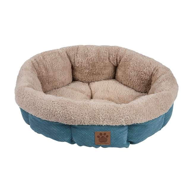 7075994 Petmate Precision Pet SnooZZy Mod Chic Stylish Round Cuddler Pet Dog Bed, Teal