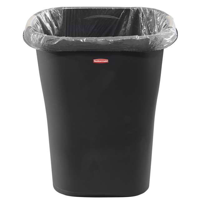 1835854 Rubbermaid 8 Gallon Plastic Home/Office Wastebasket Trash Can with Liner Lock 1