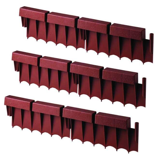 3 x BBE10TC Suncast 10 Foot Interlocking Brick Resin Border Edging, 12' Sections (3 Pack)