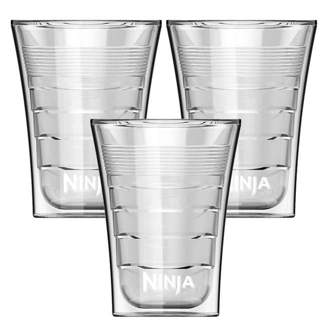 3 x CF14HOMEW Ninja 14 Oz Plastic Insulated Cup for Coffee Bar Specialty Drinks (3 Pack)