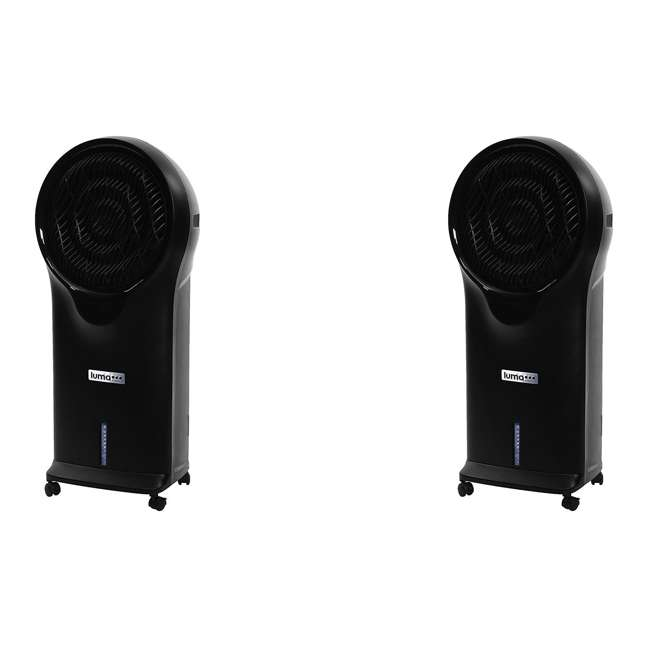 EC111B NewAir Luma Comfort Oscillating Evaporative Swamp Cooler (2 Pack)