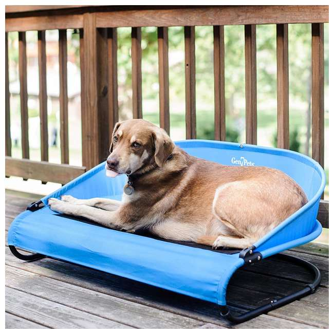 G3336TB Gen7Pets G3336TB Trailblazer Cool-Air Mesh Waterproof Cot Bed for Dogs, Blue 5