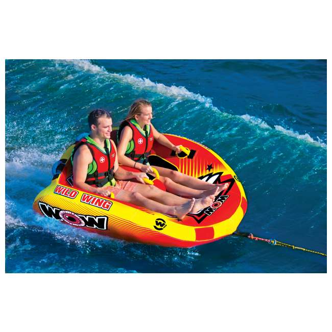 18-1120 World of Watersports Wild Wing 2 Rider Inflatable Tube 6