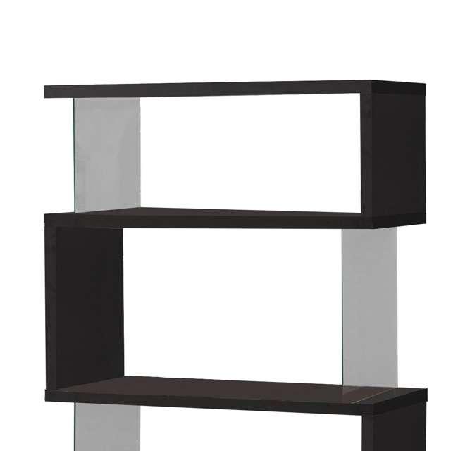 CH-800340-U-B Coaster Home Furniture Asymmetrical Snaking Living Room Bookshelf, Black (Used) 2