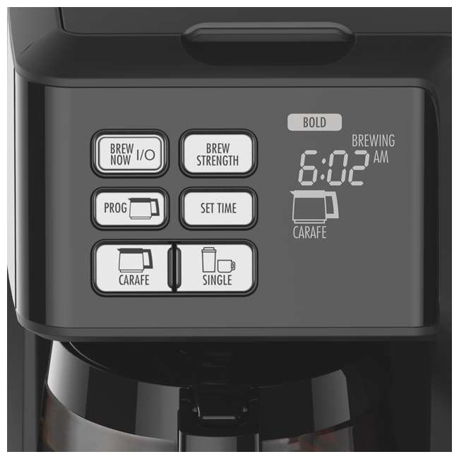 49976 + 80675R Hamilton FlexBrew Programmable Coffee Maker & Permanent Coffee Filter 6