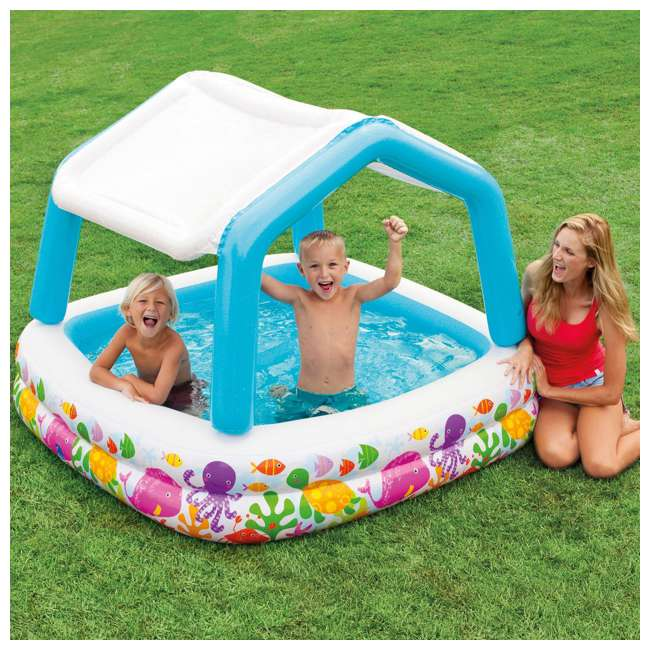 Intex Inflatable Sun Shade Kids Pool With Canopy 57470ep