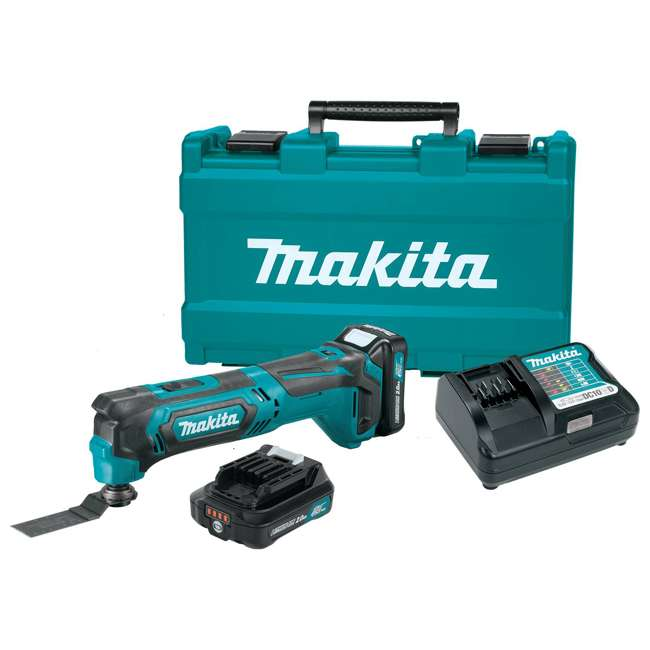 3 x MT01R1 Makita 12V Cordless Multi-Tool with Batteries + Charger (3 Pack) 1