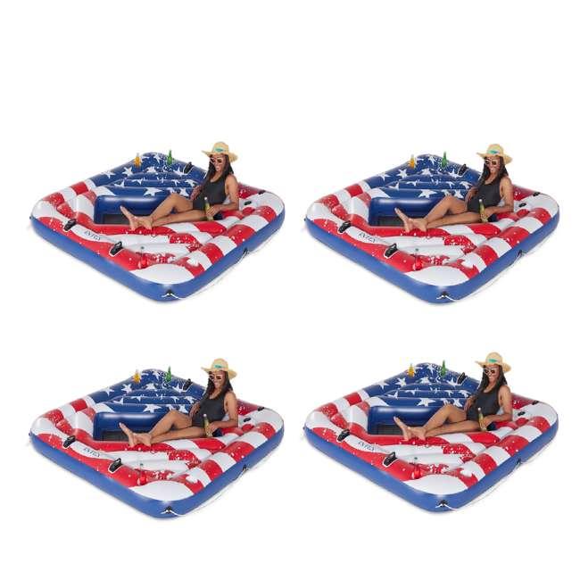 4 x 57264VM Intex 57264VM Inflatable American Flag 2 Person Float (4 Pack)