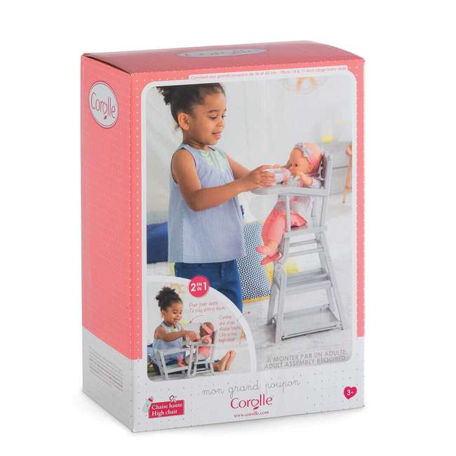 FRV07 + FPK23 Corolle Mon Grand Poupon Potty Training Emma Doll & Adjustable Toy High Chair 7
