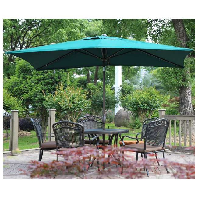 AP23386CTDG Abba Patio 6.6 x 9.8 Feet Outdoor Market Table Umbrella, Green 2