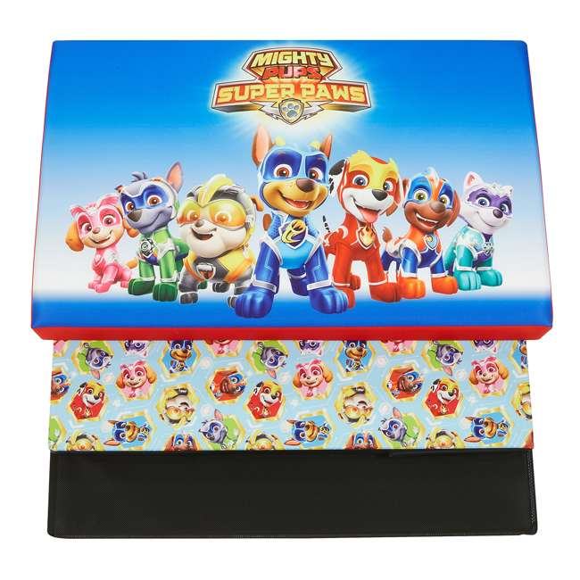 520023-005 Fresh Home Elements 24-Inch Portable Toy Chest and Storage Bench, Paw Patrol 3