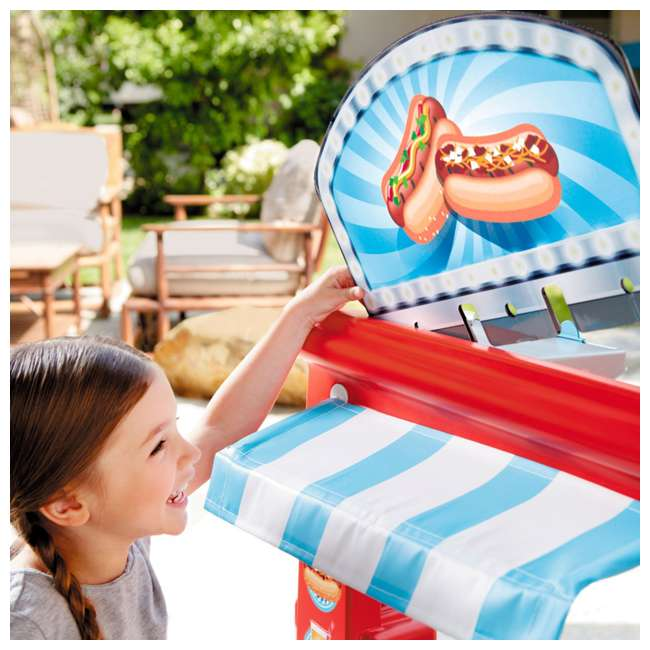 643644M Little Tikes 2-in-1 Kids Pretend Play Pop Up Ice Cream and Food Truck 10