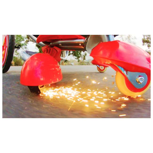 97778 + 20036559 Razor V17 Youth Skateboard/Scooter Sport Helmet & Drifting Ride-On Tricycle, Red 8