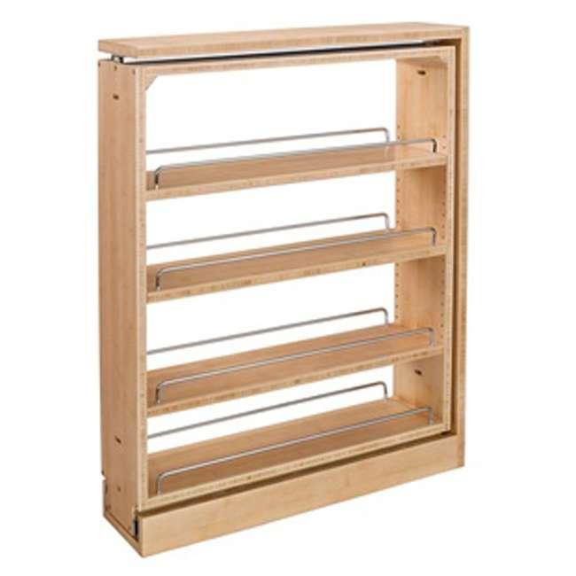 432-BF-3C-24 Rev A Shelf 3 Inch Base Filler Pullout Kitchen Wooden Spice Rack Holder Shelves