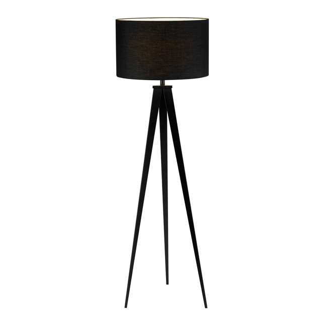 Adesso Home Director Collection Black Modern Torchiere