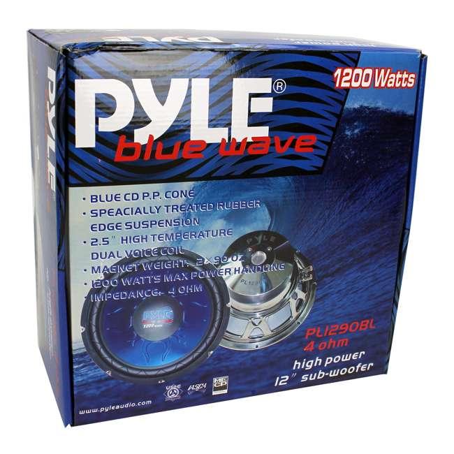 PL1290BL Pyle 12-Inch 1200-Watt Dual Voice Coil Blue Subwoofer 4
