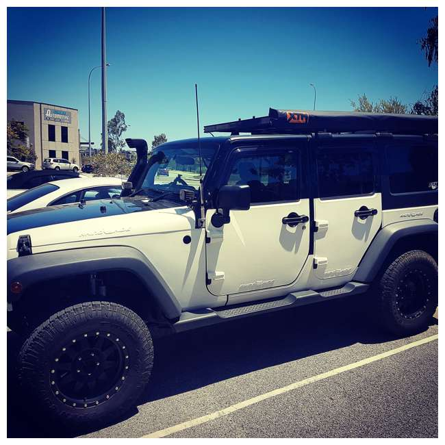 JPJKW2D-RHG Rhinohide Jeep Wrangler JK 2-Door Magnetic Body Armor Panels, Rhinohide Gray 4