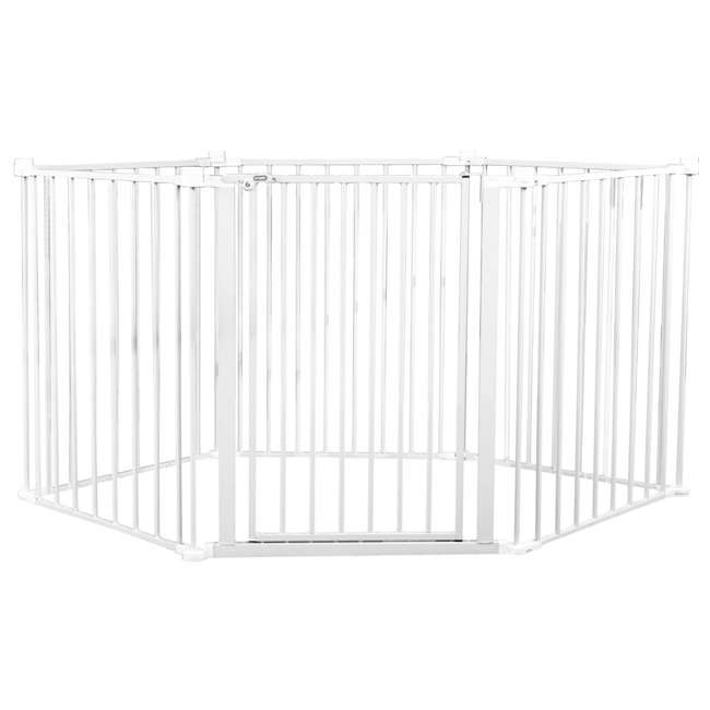 REG-1350DS Regalo 192 Inch Super Wide 4 In 1 Adjustable Baby Gate and Play Yard, White