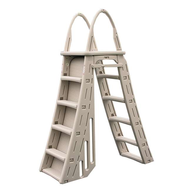 Confer a frame above ground pool ladder and hydro tools protective mat 7200 87951 for Above ground swimming pool ladder parts