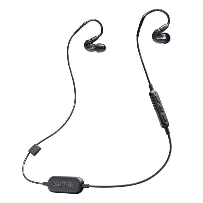 4 x SE215-K-BT1 Shure Sound Isolating Dynamic MicroDriver Bluetooth Earphones, Black (4 Pack) 2