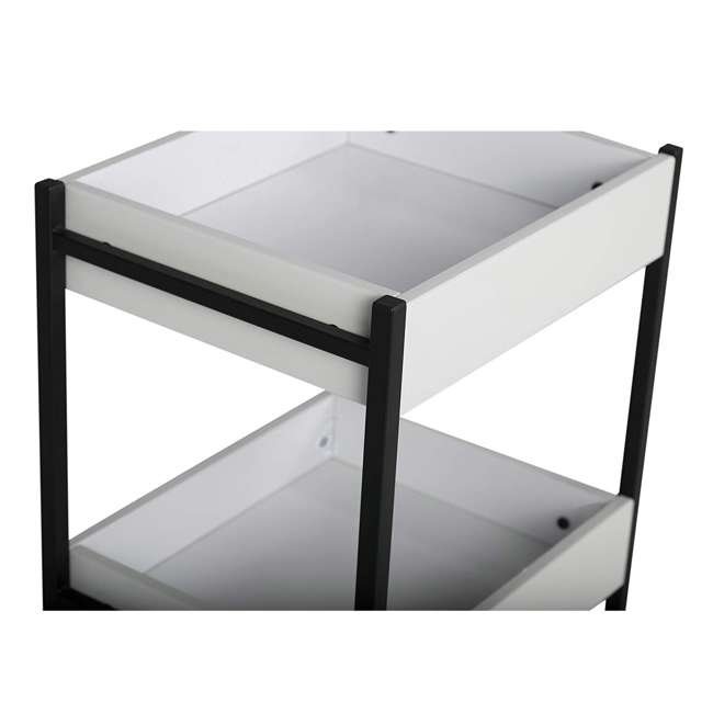 10225 Studio Designs Home 3 Bin Mobile Storage Organizing Cart with White Containers 2