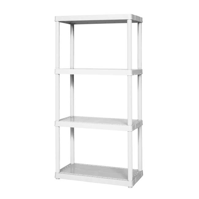 91064-1C-90 Gracious Living Easily Assembled Light Duty Solid Shelving Unit, White (2 Pack) 2
