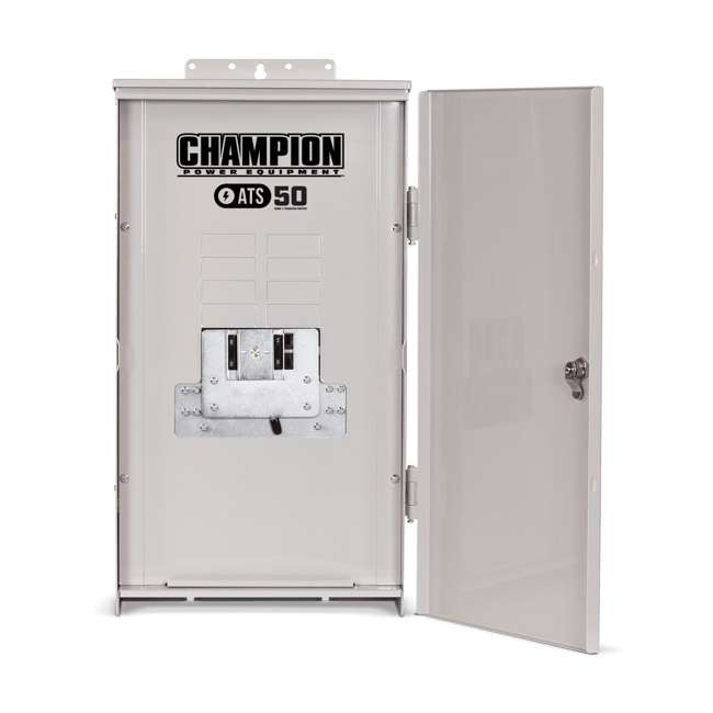 CPE-HSB-100177-U-D Champion 100177 8.5 kW Auto Transfer Gas LP Power Standby Generator (Damaged) 1