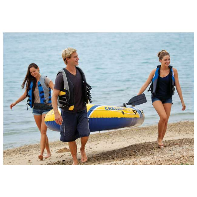 68370EP Intex Challenger 3 Inflatable Boat Set With Pump And Oars 4