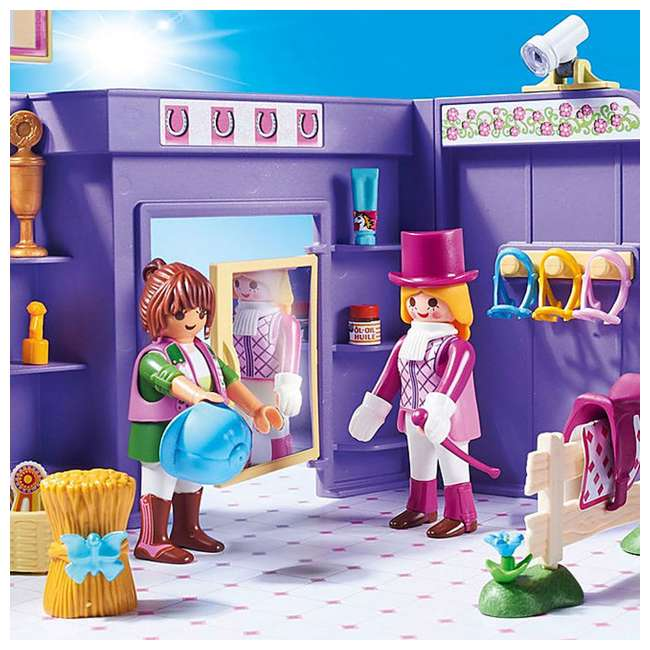 PLAY-9401 Playmobil Horse Tack Shop Kids & Toddler Educational Learning Toy Accessory Set 5