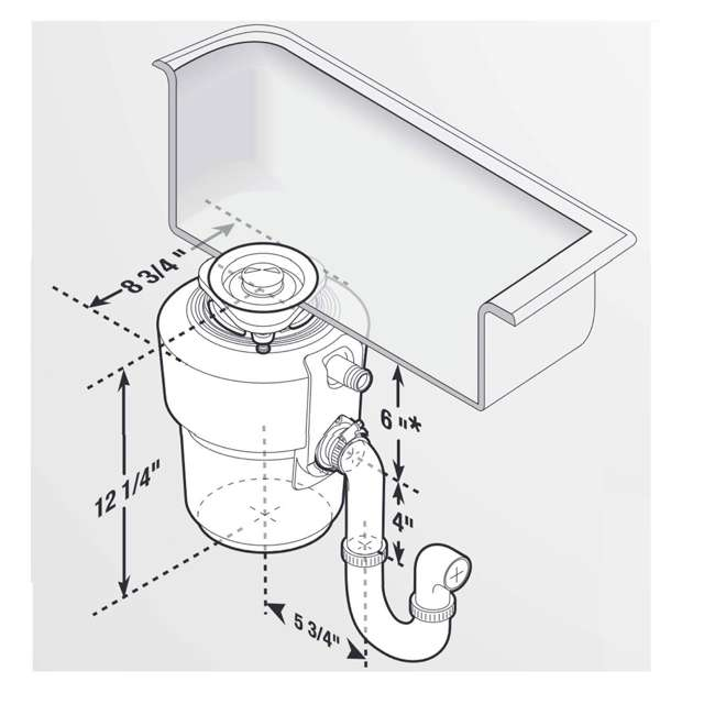 ESSENTIAL-XTR-OB InSinkErator Evolution Essential XTR Garbage Disposal 5